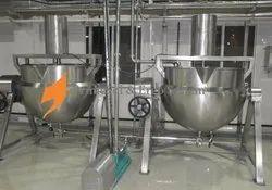 Stainless Steel Steam Jacketed Kettles, Capacity: 150-2000 Liter