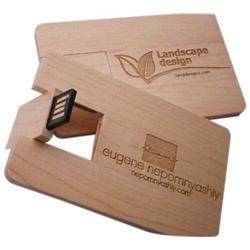Wooden Card Pen Drive