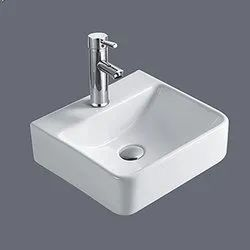 Ceramic White HM-A645 Table Top Basin, Size: 400x370x120mm