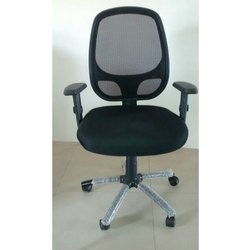 Black Mesh Revolving Chair