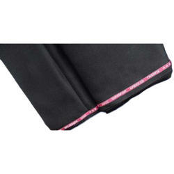 Mens Black Polyester Viscose Fabric