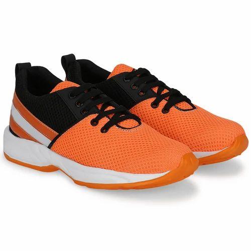Orange Color Men Running Sports Shoes