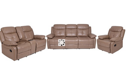 Prime Alex Leatherette Recliner Sofa Set In Camel Color Evok Squirreltailoven Fun Painted Chair Ideas Images Squirreltailovenorg