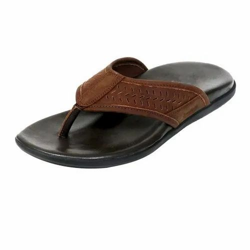Lotus Bawa Casual Mens Leather Slippers, Size: 6 - 11