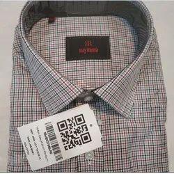 Regular Wear Cotton Raymond Mens Checked Shirt, Size: 38 To 44, Handwash