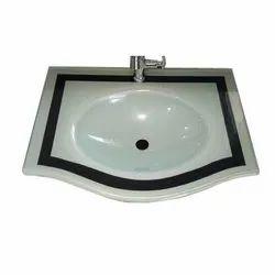White Glass Wash Basin