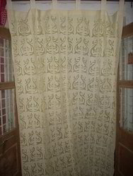 Printed cutwork Cotton Curtains