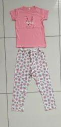 Ramola casual wear Printed Pyjama set for girls, Age: 2-8 years, 2-8 Years