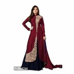 Ladies Embroidered Long Gown