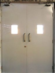 Client Choice Powder Coating Steel Door, Thickness: 45mm