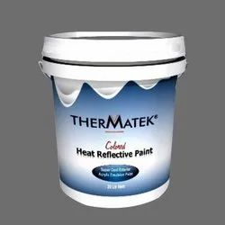 Smooth Colored Heat Reflective Paint, Liquid, Packaging Type: Bucket