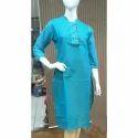 Cotton Regular Full Sleeve Girls Kurtis, Size: Large & Xl