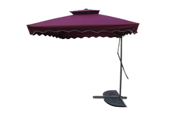 Patio Umbrella-Side Pole-Pull Push-2.5M-Wine Red