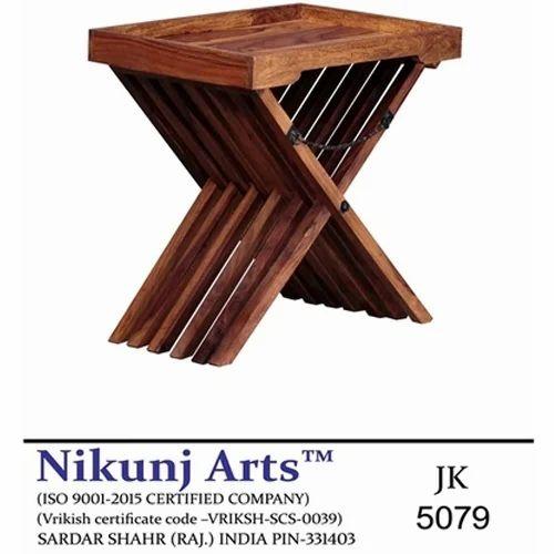 Sheesham Wood Brown Rectangular Garden Coffee Table Dimension 60 X 40 57 Cm