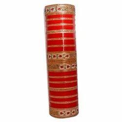 Round Wedding Ladies Stone Bangles, Packaging Type: Box