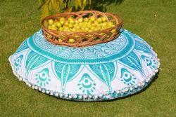 Trishul Mandala Round Cushion
