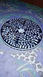 Black MOP Mother Of Pearl Table Placemat, For Restaurant, Size: 14'
