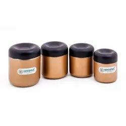 Coconut Stainless Steel Minty Canister, Packaging Type: Box