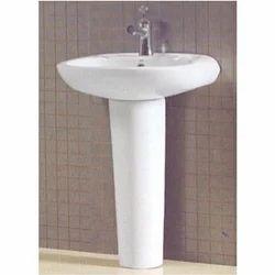 White Ceramic Matiz Wall Mounted Washbasin, Shape: Oval