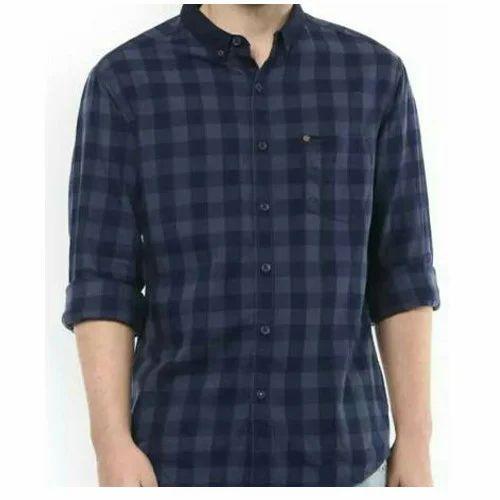 c980094e4 Cotton Casual Mens Check Shirt, Rs 245 /piece, Shivansh Enterprises ...
