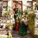 Hand Printed Georgette Sarees