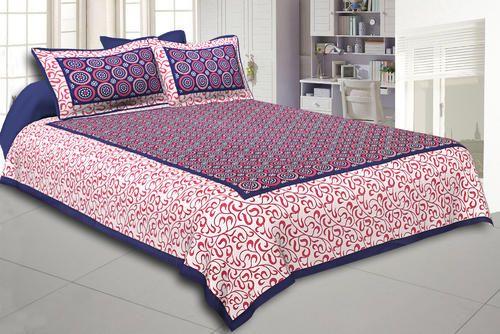 Arihant Online Multi Colored Sanganeri Printed Pure Cotton Bed Sheet