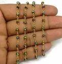 Peacock Pyrite Gemstone Beaded Chain