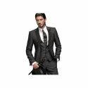 Black Plain Mens Cotton Blazer, Size: 34-44 Inch