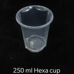250 ML Hexa Disposable Glass