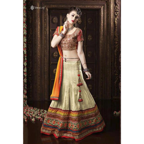 Party Wear Semi-Stitched Lehenga Choli