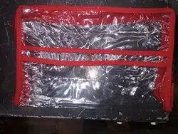 Red Rani Mehroon Purpule Plastic Transparent Makup Pouch, Size: 10*6*4, Capacity: 10