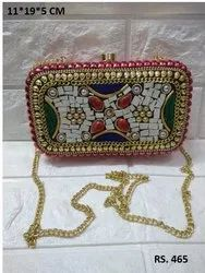 Beautiful beaded box clutch