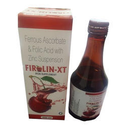 Ferrous Ascorbate & Folic Acid with Zinc Syrup, Packaging Type: Bottle