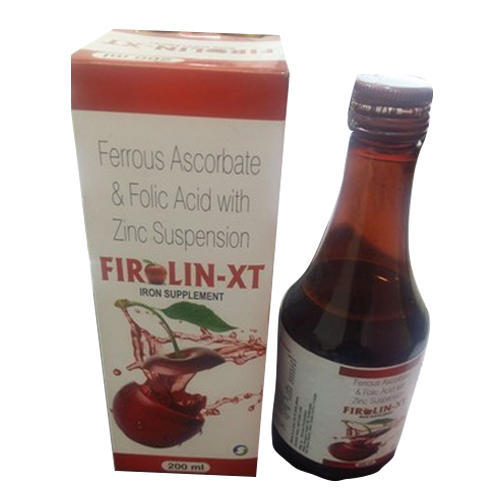 Ferrous Ascorbate & Folic Acid with Zinc Syrup, Packaging Type: Bottle
