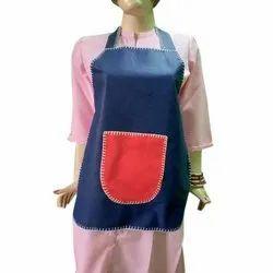PP Plain Blue And Red Colour Kitchen Apron