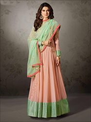 Lycra Party Wear Indian Ethnic Designer Anarkali Suit