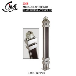 Wooden Stair Railing Crystal Ball Master Pillar