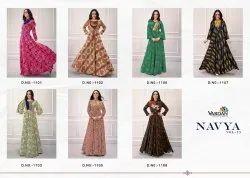 Multicolor Vardan Designer Embroidery Long Gown