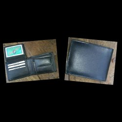 Tan Bi Fold Leather Finish Gents Wallet, Card Slots: 6