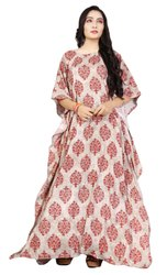 Floral Printed Long Cotton Kaftans For Women