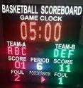 Metal Basketball Score Board, For Scoring System, Shape: Square