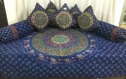 Printed 100% Cotton Diwan Set Bedsheet
