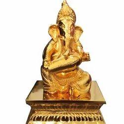 GPAS Gold Plated Ganesha Statue