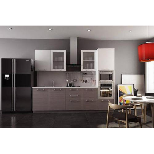 Designer Modular Kitchen At Rs 360 Square Feet: Grey, White Modular Kitchen, Rs 1200 /square Feet, BB