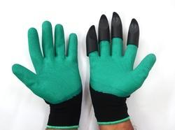 SS & WW Make Hand Gloves with Built-In Claws for Garden Digging & Planting 1 Pair, Free Size