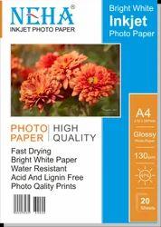 Neha A4 Inkjet Photo Paper, GSM: 120 - 150