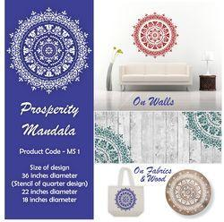 Prosperity Mandala Wall Stencil
