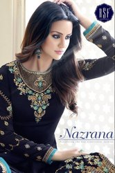 Straight Embroidery Salwar Kameez