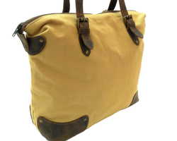 Canvas Leather Executive Tote Bag