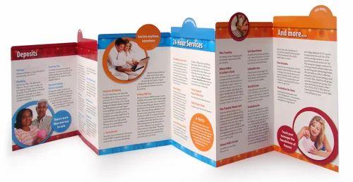 die cut z fold brochure printing services